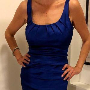 Suzi Chin Sapphire Blue cocktail dress